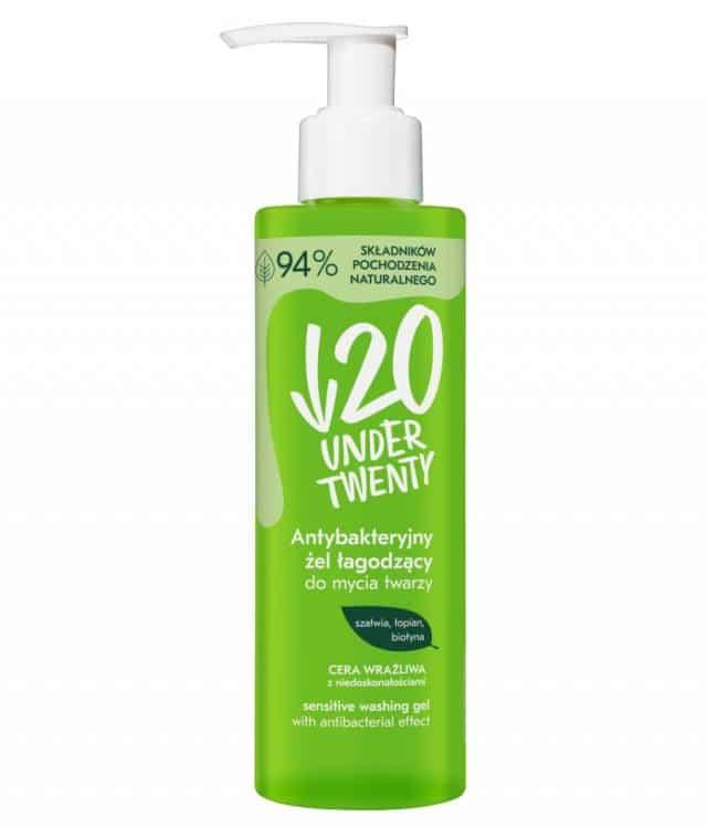 Under Twenty Antybakteryjny żel łagodzący do mycia twarzy