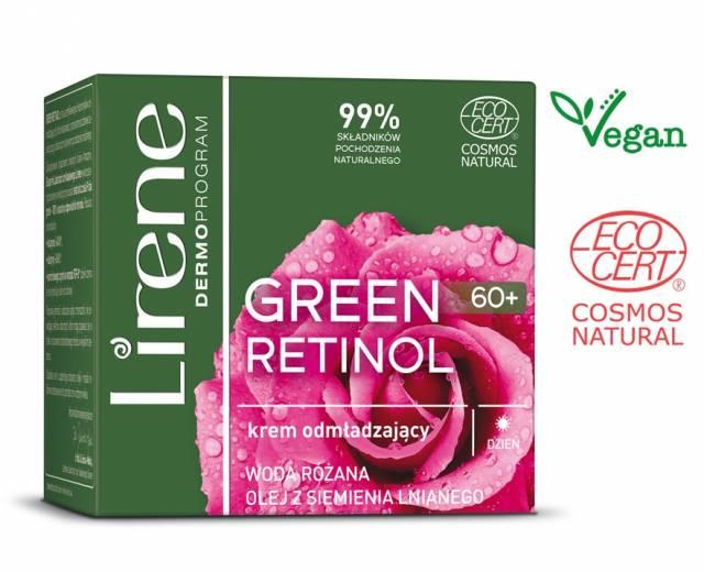 Lirene GREEN RETINOL krem odmładzający 60+ na dzień 50ml