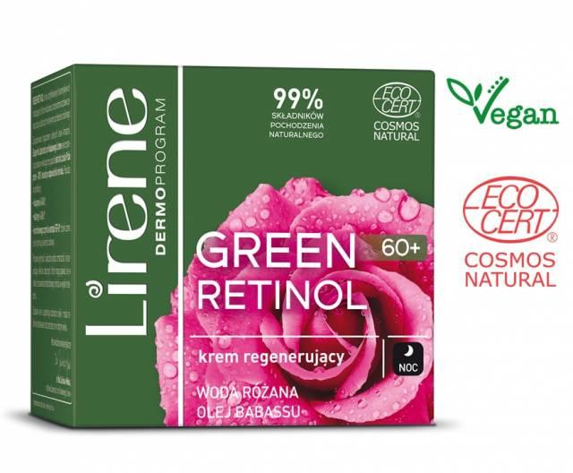 Lirene GREEN RETINOL krem odmładzający 60+ na noc 50ml
