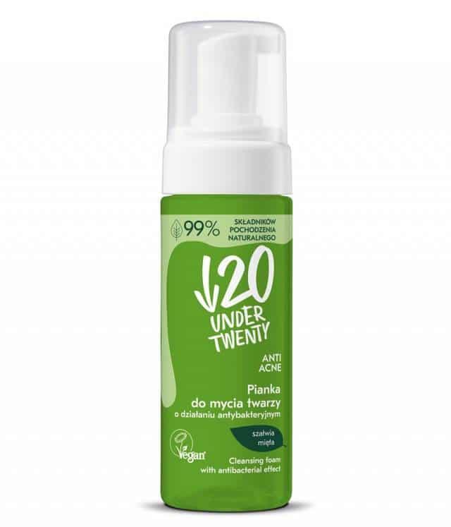 Under Twenty Pianka do mycia twarzy o działaniu antybakteryjnym